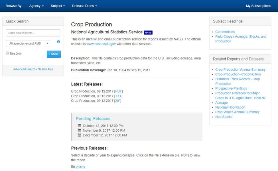 Soybean Crop Report