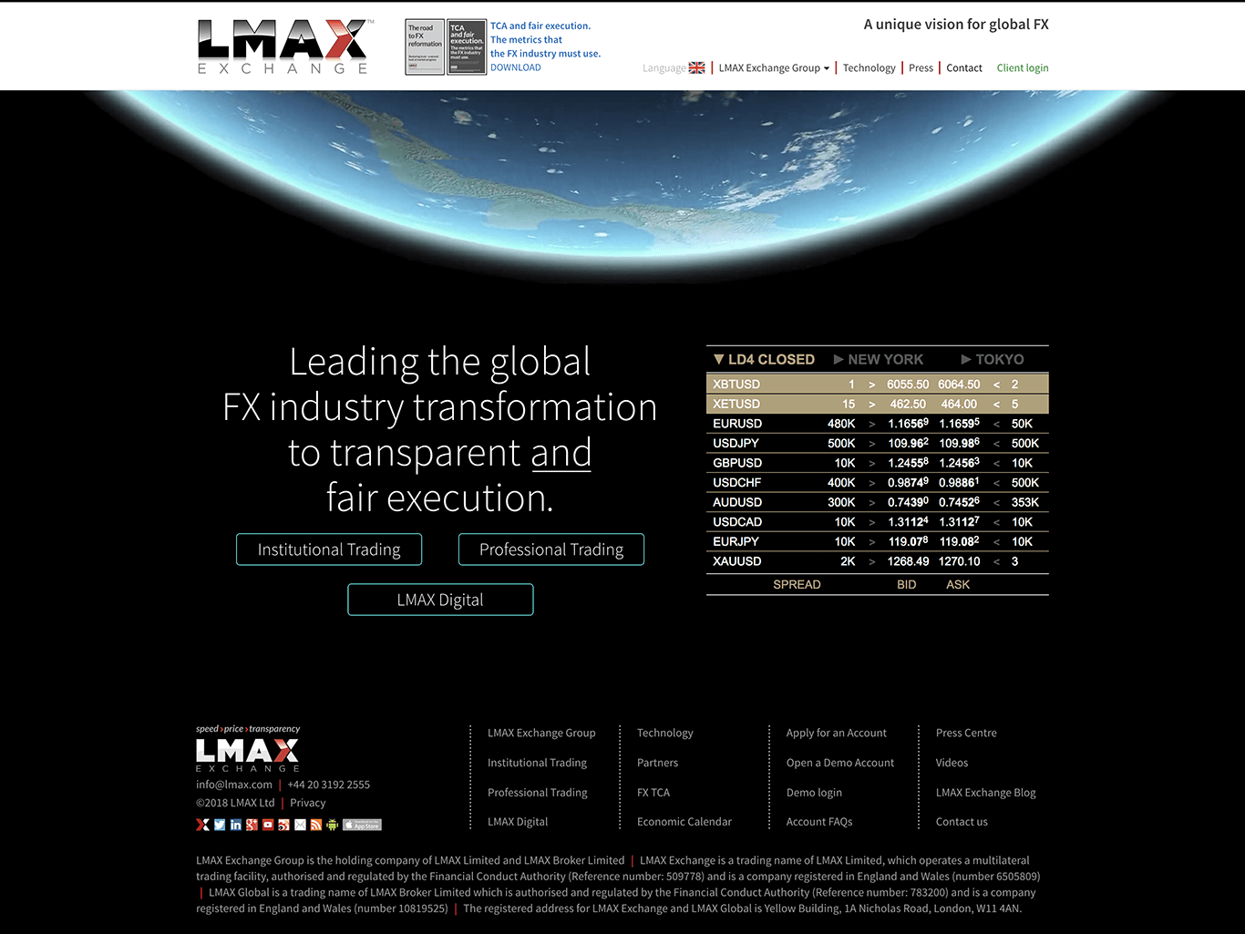 Forex Brokers with LMAX Platform