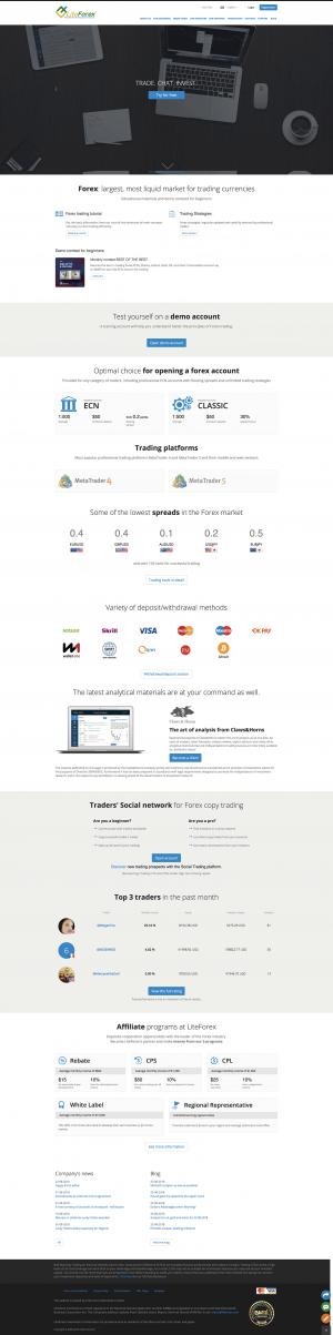 LiteForex Screenshot